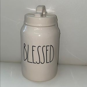 Rae Dunn Blessed canister